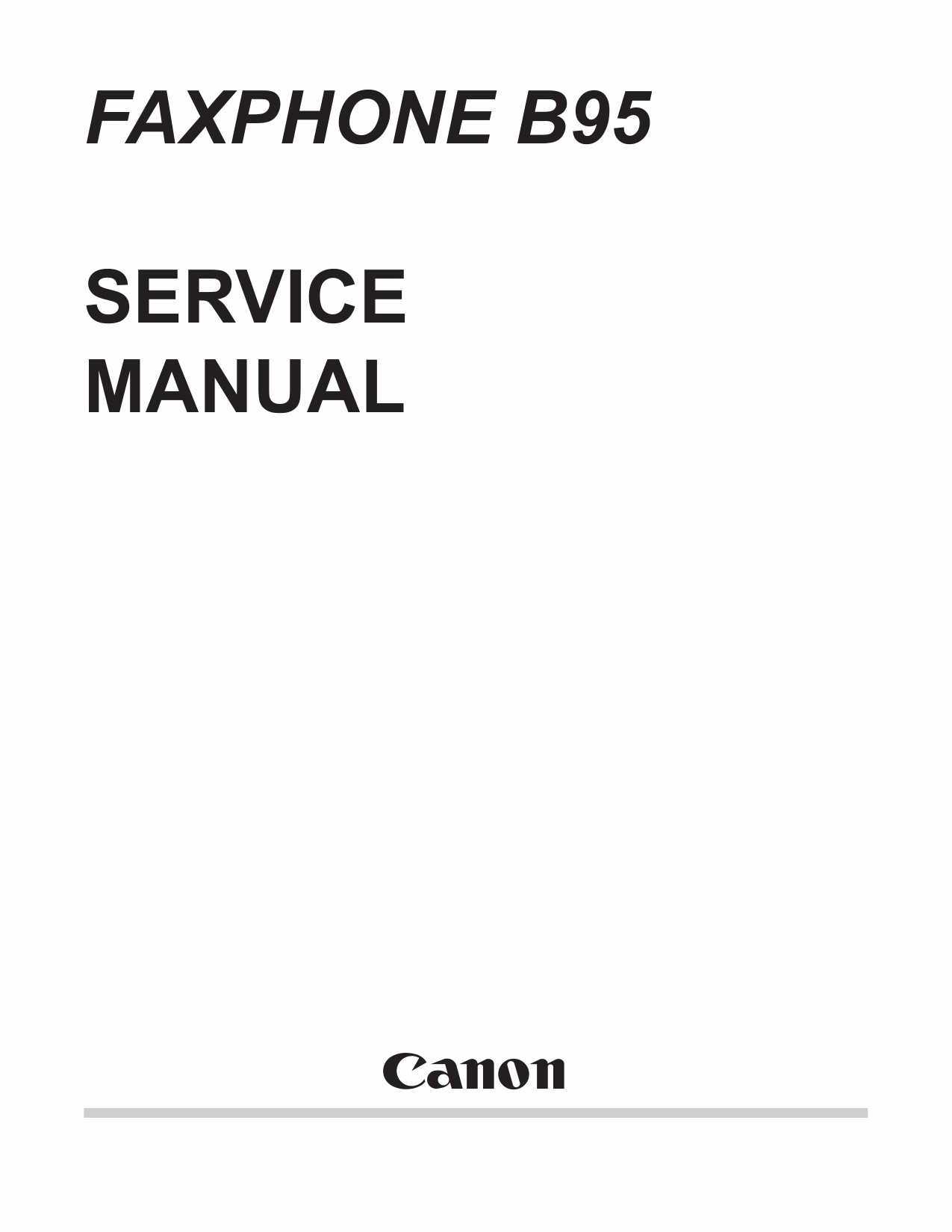 Canon FAX FP-B95 Parts and Service Manual-1